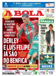 SPORTS And More: #Derley ex #Maritimo and #LuisFelipe ex #Palmeiras...