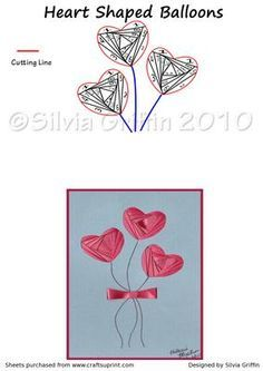 Heart Shaped Balloons on Craftsuprint - View Now!