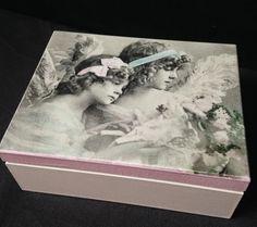 pudełko decoupage na pierwszą komunię decoupage box for holy communion
