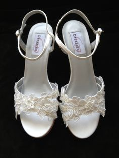 Custom+Lace+2.5+inch+Wedge+Heel+Wedding+Shoes+++by+YvesBellaBrides,+$108.00