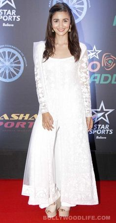 alia in white salwaar
