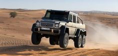 Mercedes G63 AMG 6X6 destroys some desert. Epic!