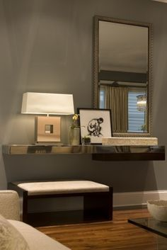 console table & lamp