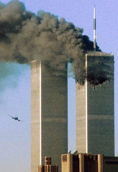 Hijacked plane, moments before striking the south tower of the World Trade Center in 2001.
