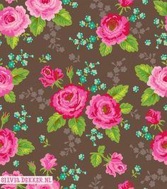 Gypsy Rose floral pattern by Silvia Dekker