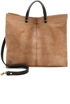 Clare Vivier Tan Calf Hair Simple Tote