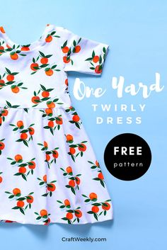 One Yard Twirly Dress & Free Sewing Pattern! & Craftsy One Yard Twirly Dress & Free Sewing Pattern! & Craftsy The post One Yard Twirly Dress & Free Sewing Pattern! Sewing Dress, Dress Sewing Patterns, Sewing Patterns Free, Free Sewing, Clothing Patterns, Sewing Tips, Sewing Hacks, Free Pattern, Pattern Sewing