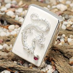 Japanese Plated Silver Dragon Zippo Limited Edition