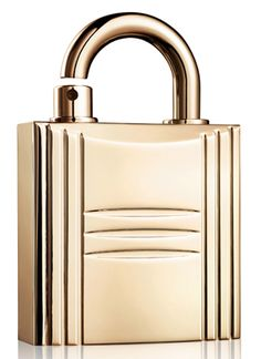 Hermès Padlock Perfume Case. The Padlock Perfume Case comes in gold and silver finishes and will fit scents such as Calèche, Parfum des Merveilles,  24 Faubourg, and Kelly Calèche.