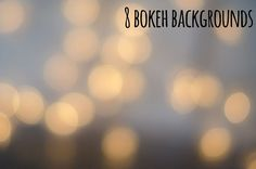 8 bokeh backgrounds Graphics 8 bokeh photos that you can use for beautiful backgrounds and more. Photos are 4084x2805px. by PremiumCoding