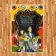 Wild Kratts Birthday Invitation  Printable File  by BumblesDesign, £7.50