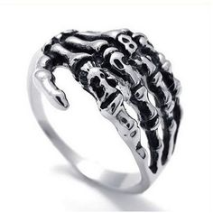 Until Death Does Us Part Ring - Rebel Style Shop - Declare your undying love to the world with this unique, punk rock ring. Depicting two hands holding even in the after-life, this is a romantic gift that your partner will surely appreciate. Single? Well, then wear it as a fashion statement and let your finger stand out!