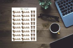 Kahvihetki tarroja ja take away mukeja kalenteritarrat