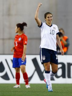 Carli Lloyd celebrates after scoring in the second half against South Korea, June 15, 2013, (Jared Wickerham/Getty Images North America)