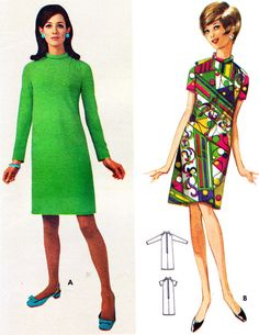 1960s fashion vintage sewing pattern