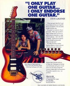 Steve Lukather (w/ Mike McGuire luthier extraordinaire, Valley Arts Guitars founder)