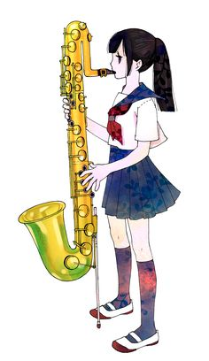 小学校の時クラリネットを吹いていたんですが、サックスとは殆ど同じ指順、マウスピースだったのでサックスもちょっと吹けました。今はもう全然頑張っても肺活量が足りなくて吹けないです。 Anime, Anime Shows, Anime Music, Anima And Animus