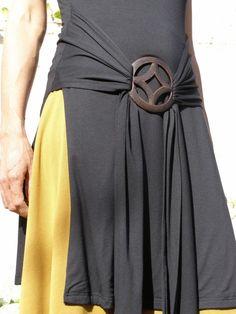 Black womens top/tunic Tibetan wrap tunic Wrap top for by SHIHAR