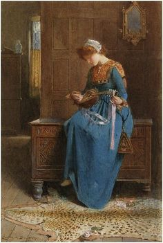 The Mandolin Player, Carlton Alfred Smith. English (1853-1946)