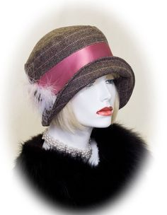 Art Deco 1920's Cloche Hat Great Gatsby 20s Party by aileens4hats, £50.00