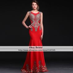 Find More Evening Dresses Information about robe de soiree Red Long Mermaid Evening Dresses 2016 New Arrival Tulle Appliqued Formal Sexy Prom Gowns Special Occasion dress,High Quality dress time,China dress up clothes adults Suppliers, Cheap dress student from OkBridal Dress Co.,Ltd on Aliexpress.com