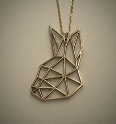 From the Boris and Doris geometric animals collection, solid bronze pendant on a gold-plated chain. Gold Necklace, Pendant Necklace, Bronze Pendant, Dory, Tatoos, Jewerly, Fashion Jewelry, Pendants, Spoiler
