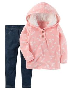 Platinum Ladies Happy Horse Print Hooded Fleece Sleepsuit Lilac Onepiece