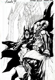 Arkham Asylum - Batman by Carlos D'Anda *