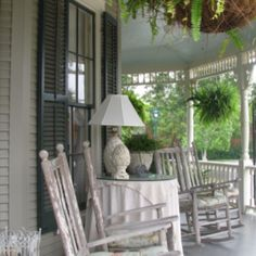 Rocking chair porch!