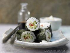Auch lecker: Die vegetarische Version zum Nachkochen: Gemüse-Sushi - smarter - Kalorien: 264 Kcal | Zeit: 105 min. #sushi