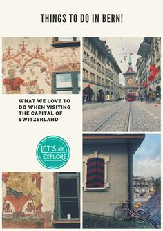 Bern! The fountains, the old town, the green colored buildings, and Albert Einstein. Read all about the things we love to do in Bern.  #Bern #Switzerland #Swisscities #Citytrip #Europe #Switzerlandvacation