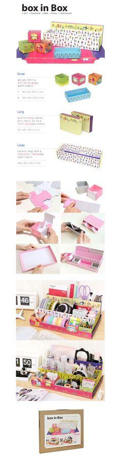 Box in Box - Village [Paper Desk Organizer / Office Desk Organizer Box]