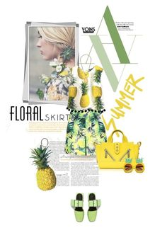 """""""The Perfect Summer Floral Skirt"""" by lacas ❤ liked on Polyvore featuring Kenzo, Floralskirts, yoins, yoinscollection and loveyoins"""