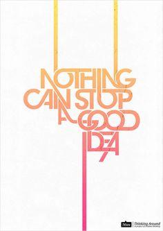 posteres tipográficos Design, Inspirações