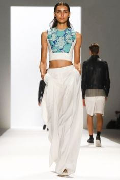 really happy to see crop tops are still in - frustrates me i can't really wear them here! #richardchailove #mbfw #ss14