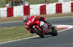 Loris Capirossi on the Ducati MotoGP bike.