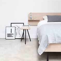 """Who doesn't want the perfect bed? We really like this new bed """"frame"""" from the Dutch company @trecompany - made in collaboration with @mariestellamaris_official and @aprilandmay #ilovemyinterior"""