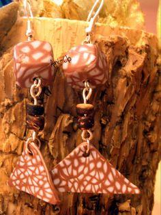 TRIANGLE : orecchini fatti a mano in argilla polimerica (FIMO) - hand made polymer clay earrings