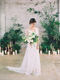 Stunning bridal inspiration: http://www.stylemepretty.com/2015/08/13/black-tie-botanical-wedding-inspiration/ | Photography: Diana McGregor - http://www.dianamcgregor.com/