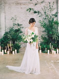 Stunning bridal inspiration: http://www.stylemepretty.com/2015/08/13/black-tie-botanical-wedding-inspiration/ | Photography: Diana McGregor - http://www.dianamcgregor.com/