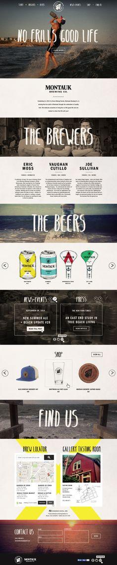 Unique Web Design, Montauk Brewery Co. #Webdesign #Design (http://www.pinterest.com/aldenchong/)