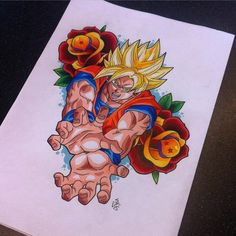 Goku Tattoo Design by Hamdoggz.deviantart.com on @DeviantArt - Visit now for 3D Dragon Ball Z compression shirts now on sale! #dragonball #dbz #dragonballsuper