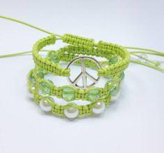 kit bracelet peace neon