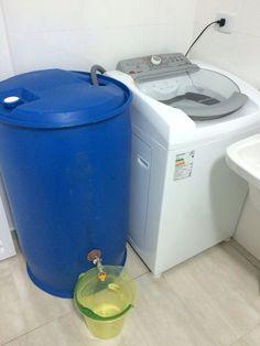 Aproveitando a água da máquina de lavar