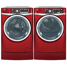General Electric-GE 4.8 cu. ft. RightHeight Design Front-Load Washer & 8.3 cu. ft. Dryer Bundle