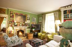 Forever England: The home, which is currently leased by landscape gardeners Julian and Isabel Bannerman, is richly appointed inside as well ...