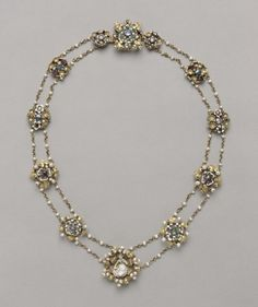 Twelve Medallions Mounted as a Necklace, c. 1400 France, Paris , late 14th-early 15th century