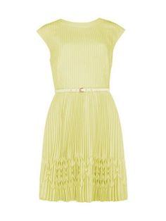 Ted Baker Terna pleated hem dress Yellow - House of Fraser