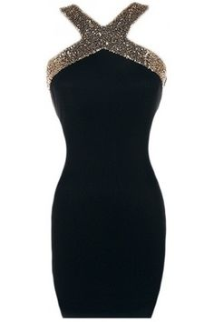 Open Back Bodycon Dress | USTrendy