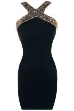 Open Back Bodycon Dress | USTrendy
